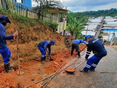 Cosama inicia ampliação de rede de abastecimento em Carauari e beneficia mais de 200 famílias com água tratada